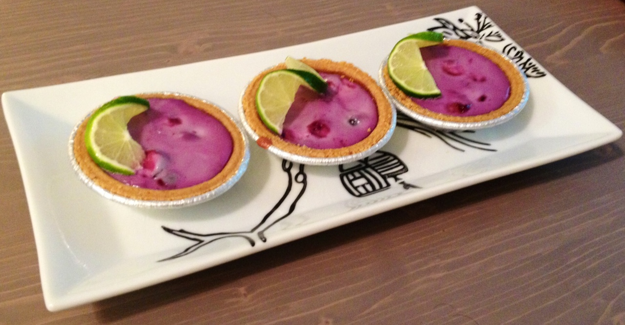 Baby Blueberry Key Lime Pies