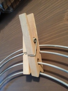Second clothespin