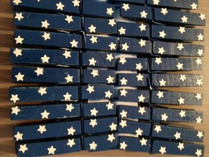Star Blue Clothespins