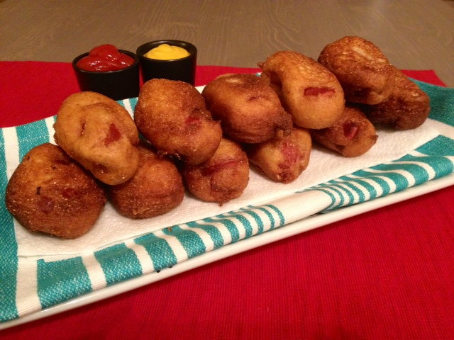 Plated Corn dogs