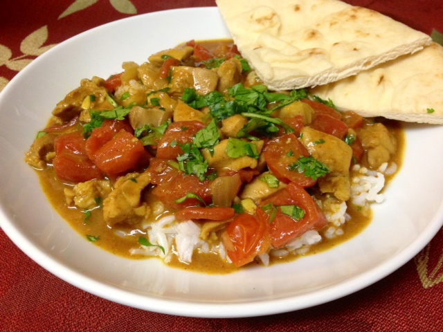 Plated curry.