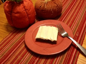 Plated Pumpkin Bars