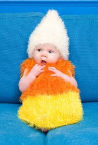 Candy Corn Baby Outfit