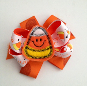 Candy Corn Bows