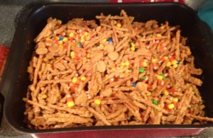 Added M&M's and candy corn