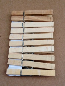 unpainted clothespins