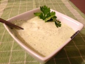 bowl of cream sauce