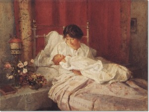 carlton-alfred-smith-a-mother-and-her-baby-1916