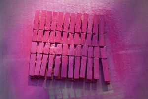 pink clothespins